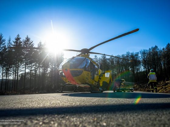 Foto: Daniel Schröder   TH 1 - Verkehrsunfall   04.04.20