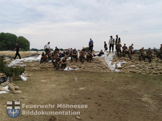 Hochwasser-Einsatz in Niedersachsen