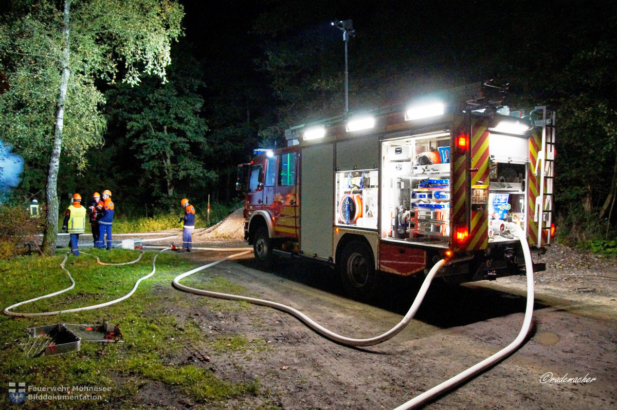 24h Übung Containerbrand