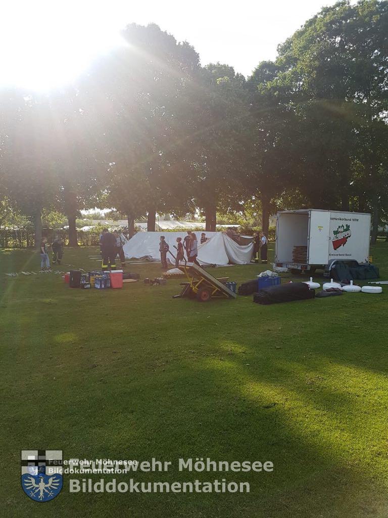 Pfingstzeltlager 2018   Aufbau